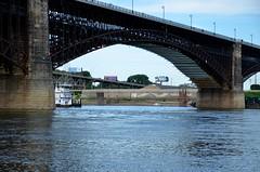Eads Bridge / Mississippi River (Adventurer Dustin Holmes) Tags: bridge water river illinois stlouis bridges missouri rivers mississippiriver tugboat stl tugboats eadsbridge stlouismissouri stlouismo downtownstlouis 2013 eaststlouisillinois eaststlouisil