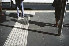 - (purple camel) Tags: city urban station fuji trolley tram australia melbourne victoria stop fujifilm x100