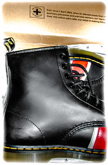 Dr Marten Union Jack boot. In the box. (CWhatPhotos) Tags: pictures camera new black art leather yellow digital pen that lens jack lite four boot photo toe foto image boots artistic photos pics dr union picture pic olympus images have cap fotos penn stitching kit doc olympuspen marten which soles dm zuiko docs contain bouncing airwair thirds docmartens martens dms inthebox 8hole 1460 esystem bouncingsoles 1442mm mzuiko cwhatphotos epl5