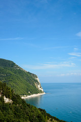 Sirolo (MikePScott) Tags: camera trees sea italy lens italia coastline marche adriatic ancona lemarche topography sirolo monteconero nikond800 nikon50mmf18g featureslandmarks