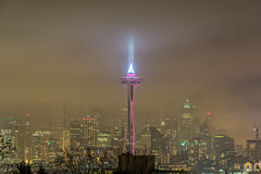 Foggy Seattle (SharmaPunit) Tags: seattle longexposure nightphotography beautiful beauty misty fog skyline architecture night skyscraper buildings photography lights photo haze nikon flickr downtown nightimages photographer view photoshoot tripod foggy newyear beam nighttime views midnight frame spaceneedle kerrypark dslr hillside beautifulview happynewyear manfrotto downtownseattle photogenic punit seattleskyline skyscrapper lightbeam seattledowntown sleeplessinseattle nightshooter seattleatnight nikondslr seattlenewyear outdoorphotography highlanddrive lovelyweather nightshooters ilovemypics nikond7100 nikon7100 lovedslr punitphotography photographypunit photopunit
