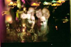 La Criolla (glamorous_disasters) Tags: friends amigos color film night portraits 35mm paper noche hole pinhole retratos flare disposable estenopeica sprocket