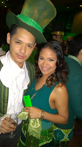 Micah Munoz and Cara Barredo with the green Nokia Asha 503