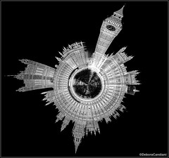 Tiny Planet do Big Ben (DebCandiani) Tags: blackandwhite bigben pretoebranco tinyplanet housesofparliaments nikond800 pequenoplaneta photoshopcs6