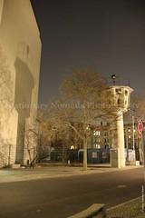 Watchtower (Stationary Nomads) Tags: light shadow west berlin 1969 germany dark deutschland east berlinwall potsdamerplatz mitte nomansland 1961 coldwar watchtower deathstrip 13august1961 amenaamer