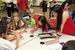 "LittleBits Workshop • <a style=""font-size:0.8em;"" href=""http://www.flickr.com/photos/39901239@N00/12918376545/"" target=""_blank"">View on Flickr</a>"