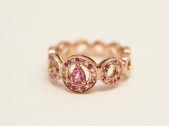 パパラチアサファイアの指輪  Padparadscha Sapphire ,Pink Sapphire and Diamond Ring  (jewelrycraft.kokura) Tags: diamond single 指輪 sapphire singlecut padparadscha ダイヤモンド ピンクゴールド ダイヤ ゆびわ サファイア ピンクサファイア シングルカット パパラチアサファイア