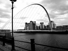 2014_03_20_13_10_13_ProShot (scottgibsonnl1020) Tags: bridge blackandwhite white black monochrome newcastle grey millennium millenniumbridge bnw newcastleupontyne