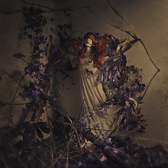 magical tomb (brookeshaden) Tags: abandoned education ghost redhair derelict behindthescenes tutorial select compositing fineartphotography learnhow creativelive brookeshaden storytellingart purplevines trappedinaroom