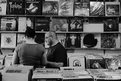 Tandem Digging (Eric Arnold Photography) Tags: city vegas blackandwhite bw music woman white man black records vintage blackwhite store couple lasvegas album nevada retro nv albums lp record nostalgic lps 2014 recordcity recordstoreday