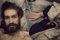 Day 87 (Michael Rozycki) Tags: portrait face self canon project hair beard bed hands personal head her moustache karate dreams 7d chop 1755