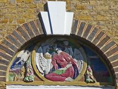 Somers Town, Sidney Estate, Camden, London (mira66) Tags: sculpture london clock faience ceramic estate camden terracotta social relief fairy housing stpancras polychrome doulton somerstown taile gilbertbayer washingpost