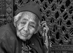 Portret van boeddhistische monnik / Kathmandu-Nepal.
