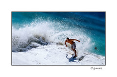 1071741 - Dennis Champagne (Hawaii Photo's) Tags: ocean sun hawaii surf waves oahu action surfing skimboarding sandybeach skimboard skimboarder dennischampagne