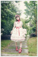 Sweet Strawberry Prints Lolita JSK (lindasunx) Tags: dress lolita jumper lovely jumpers jsk lolitadress lolitadresses mylolitadress