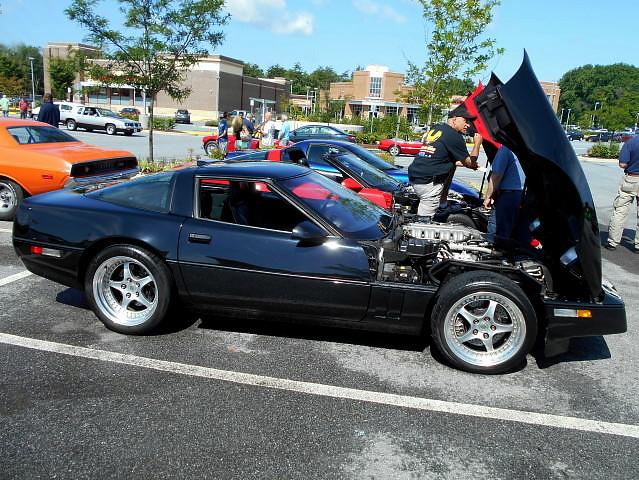 chevy corvette 1990 carshow c4 zr1 burtonsvillemd churchoftheholydonut