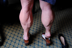 DSC_0174jj (ARDENT PHOTOGRAPHER) Tags: highheels muscular veins calves flexing veiny bodybuildingwoman