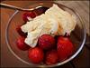 Day 182 (kostolany244) Tags: food germany europe july strawberries spoon bowl icecream journeys day182 geo:country=germany 172015 kostolany244 365the2015edition 3652015 journeys2015 olympusomdem5markii