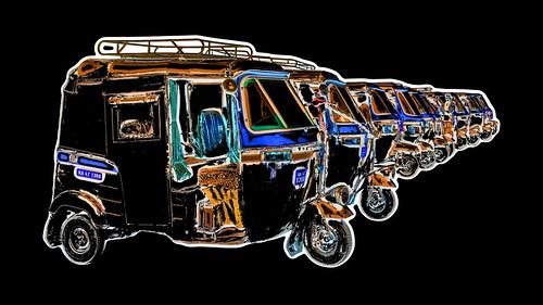 India - Karnataka - Gokarna - Auto Rickshaws - 2db