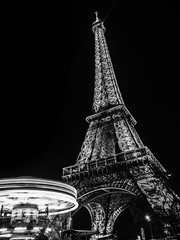Towers at the Eiffel Tower (magma_dou) Tags: eiffel paris nitht white black capitale france nuit monuments ruby3 ruby10