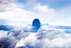 Spearmint Sky (Hayden_Williams) Tags: clouds winter fresh freshair mint wintergreen spearmint sky beauty beautiful surreal dream dreamy cold blue girl person silhouette shadow analog analogue film fd50mmf18 canonae1 kodakportra400 doubleexposure multipleexposure