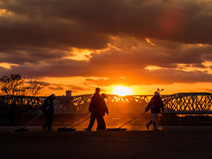 トンボ掛け (takanorimutoh) Tags: sunset evening colorsinourworld