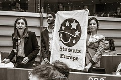 """""""Stand up for Europe"""" and """"Students for Europe"""" at the European Parliament #europe #standupforeurope #europeanparliament #citizens #students (Ben Heine) Tags: benheinephotography photography composition light smartphone nature landscape beauty beautiful photo photographie art ifttt instagram benheine horizon"""