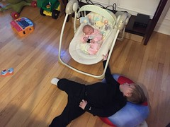 "Paul Rocks Dani in Her Swing • <a style=""font-size:0.8em;"" href=""http://www.flickr.com/photos/109120354@N07/32957495302/"" target=""_blank"">View on Flickr</a>"