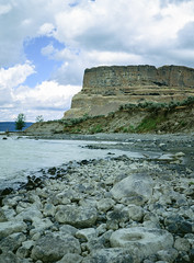 Steamboat Rock (deanfuller2) Tags: film electriccity washington unitedstates us velvia50 banks lake steamboatrock ga645pro fujifilm analog landscape