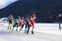 Alternatieve Elfstedentocht Weissensee 2017 - dames in laatste ronde (Andrea van Leerdam) Tags: weissensee oostenrijk winter natuurijs ijs schaatsen aet2017