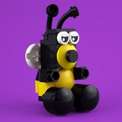 Cuddly Toys: Bee (Swan Dutchman) Tags: lego toy cuddlytoy stuffedtoy plushtoy plushies snuggies stuffies snuggledanimals stuffedanimals softtoys knuffel knuffelbeest knuffeldier bee bij