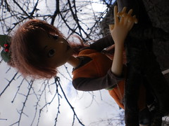 Fawn chilling in a tree (TheRandomBanana) Tags: tree girl doll pretty character tinkerbell disney chillin chilling fairy fawn fairies braid
