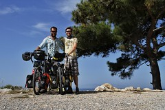 Beside the Aegean. 20/05/13. (pedallingfree) Tags: road sea tree pine turkey coast aegean antolia