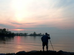 Photographer Silhouette (Georgie_grrl) Tags: morning sky ontario beautiful silhouette clouds sunrise michael friend lovely cans2s mydarkpinkside samsungd760 norriscrescentparkette humberbayarea