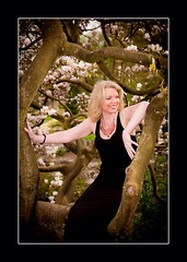 (Geena Hayes) Tags: northwest preston fashionshoot blackdress magnoliatree avenhampark tallblondemodel lancastermodel geenahayes geenahayesmodel noethwestmodel magnliatree