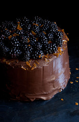 Chocolate layer cake (ashley_tarr) Tags: cake chocolate blackberries chocolatecake