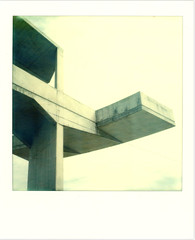 Barcelona - 2013 (von_bauer) Tags: barcelona color architecture polaroid concrete sx70 construction postmodern graphic readymade protection brutalism urbanarchitecture ericbauer zurckzumbeton px70 vonbauer likeeyecontactinanelevator px70colorprotection