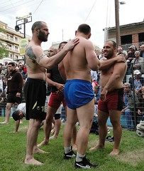 Bulgarian wrestlers (d.mavro) Tags: shirtless sexy sport fighter body wrestling traditional sensual arena greece strong bulgarian serres grecoroman pehlivan gre athlet restling nigrita  pahlavan pehlwan