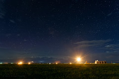 Stars vs Gas Flaring on the Pawnee (Fort Photo) Tags: industry nature night rural stars nikon nightscape space gas astrophotography oil change astronomy development grasslands oilfield naturalgas lightpollution flaring csp pawnee clff d700