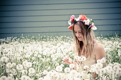 (Marielle B-R) Tags: red summer flower girl beautiful creek emily colorado child boulder co crown fest marielle 2013 reiersgard