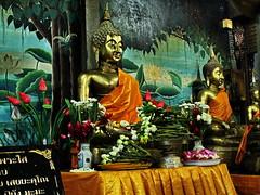 Buddha Image (ulli_p) Tags: flowers light art colors beautiful smile thailand gold colorful asia southeastasia colours buddha buddhism best mekong isan thaitemple mekongriver photomix nongkhai amazingcolours aworkofart flickraward earthasia thebestshot totallythailand watphochai artofimages exoticimage mygearandme canoneoskissx5