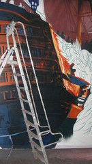 Partena_Hdp (BNZR!) Tags: painting ships grand battle canvas installation format making xl toile fresque ralisation