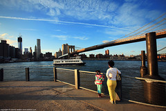 ...east river october sun (ioannis lelakis) Tags: autumn sun daughter mother east late