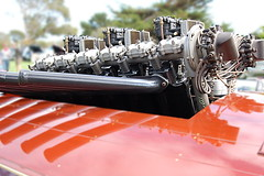"""LIBERITY AERO ENGINE IN 1922 """"HACKER"""" 29 FT. RACE BOAT (Erijoh) Tags: auction 2010 mecum hackerboats libertyv12engines"""
