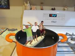 Auguts 9, 2013 (50/365+2) (gaymay) Tags: california gay portrait orange love water kitchen happy corn desert palmsprings pot inside triad logroll rainbowgame