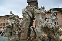 Rome! December 2012. (emeraldintherough) Tags: italy rome fountain fontana dei quattro fiumi