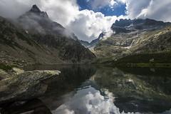 Lac Autier, Mercantour, France (Julien Sanine) Tags: cloud alps reflection alpes lac grand capelet mercantour d600 autier