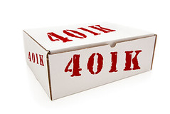White Box with 401K on Sides Isolated