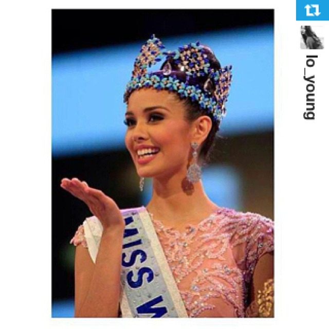 Good Morning World!! Good Morning Philippines! haha ☀☺Congrats again Ms. Miss World 2013 Megan Young #Philippines (Repost from @lo_young with @repostapp) www.tauyanm.com #mw2013 #mw2013meganyoung #igersph #igersmalaysia #igersworldwide #crown #pageants #b