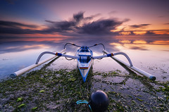 Heading to Horizon (eggysayoga) Tags: longexposure sky bali cloud seascape beach sunrise indonesia landscape boat sand nikon day image traditional tripod ss wide hard tokina le shore 09 nd slowshutter anchor pro alta stacking filters f28 average pantai holder vanguard graduated denpasar sanur karang lightroom waterscape averaging uwa gnd intervalometer jukung leefilter 1116mm imageaveraging d7000 pwpartlycloudy